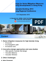 Case Study of Design for Noise Mitigation Measures for Public Housing Developments in Hong Kong