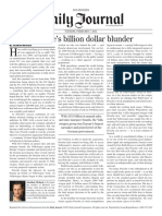 2012 2 7 Daily Journal the Billion Dollar Blunder