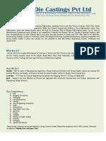 Company Profile - Shubh Castings - 011016