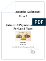 Analysis on Balance of Payments in India for Last 5 Years