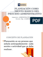 Separata 4 La Planeacion Como Elemento Basico Del Proceso Administrativo (1)