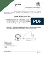 ORD-DÍA 122-2016 OFIC.COMDA CAMBIO CLAVES RADIALES DPTO PREVENCION