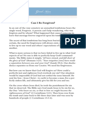 Can I Be Forgiven CrosswayTracts | Sin | Forgiveness