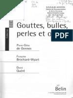 DeGennes 2005 Gouttes Bulles Perles Et Ondes