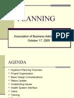 2005 OCT ABA Planning Presentation