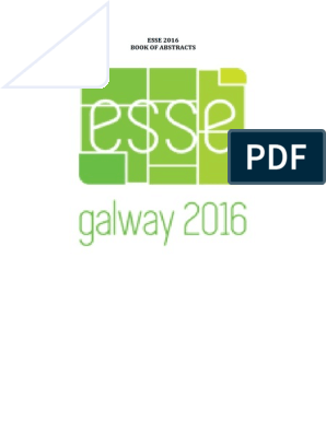 Esse 2016 Abstracts | Abstract (Summary) | Qualitative Research