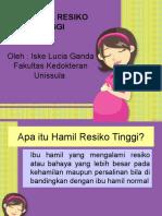 Penyuluhan ibu hamil resiko tinggi