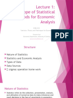 Lecture 1 ECN 2331 (Scope of Statistical Methods for Economic Analysis)