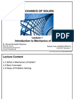 KA20903 - Lecture 1 Introduction to Mechanics of Solids