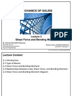 KA20903 - Lecture 3 Shear Force and Bending Moment