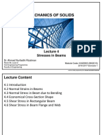 KA20903 - Lecture 4 Stresses in Beams