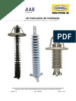 Manual de Instruções de Instalação Pára-raios Óxido de Zinco Classes 1, 2, 3, 4 e 5