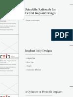 Scientific Rationale for Dental Implant Design