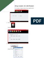 Cara setting modem 3G USB Modem.docx