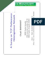 A Surveyon TCP Performance in a Heterogeneous Network
