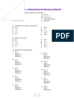 3 - Exercícios - Potenciação de Números Naturais.doc
