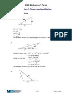 Forces & Equilibrium - Solutions.pdf