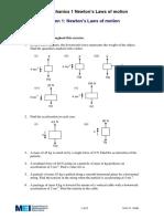 Newton's Laws of Motion Exercise.pdf