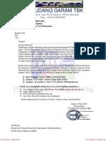 Surat Undangan Test Seleksi Calon Karyawan PT.gudang Garam Tbk.