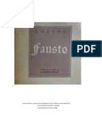 Goethe - Fausto (Trad. en Verso de Augusto Bunge)