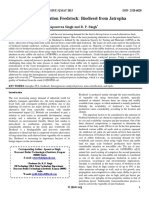 Second Generation Feedstock Biodiesel From Jatropha 01 May