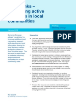 Local Links - developing active networks in local communities