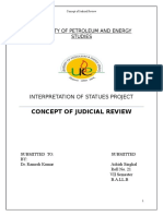 211674422 Concept of Judicial Review