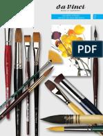 da Vinci Watercolor brushes