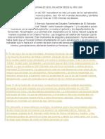 Desastres Naturales de El Salvador Desde El Año 2000
