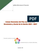Plan de Desarrollo Económico y Social de La Nación 2001-2007 (Cinco Equilibrios)