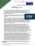 0 - A ONU e Pessoas Com Deficiência