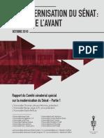 Rapport du Comité sénatorial spécial sur la modernisation du Sénat (4 octobre 2016)
