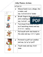 The Jolly Phonics Actions - Definitive