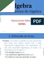 Suma Expresiones Algebraicas