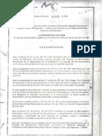 Aguadas Resolución 1883 de  2001