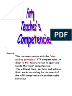 Forty Teacher's Competencies