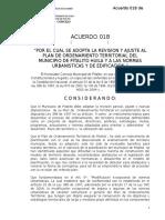 Acuerdo 018 de 2007 Pot, Seguimiento