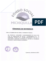Términos de Referencia Paquete Perfil y Expediente Técnico Sector Quinuamayo Alto