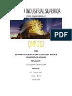 Cromatografia de Gases Trabajo