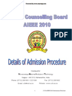 Details of Admission Procedure