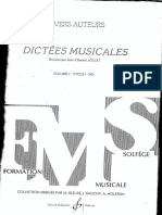 Dictees Musicales Vol1 Prof