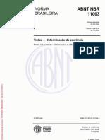 NBR 11003 (2009) - Tintas Determinação da Aderência
