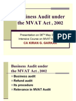 Business Audit Under MVAT Act