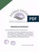 Términos de Referencia Paquete Perfil y Expediente Técnico Sector Quinuayoc