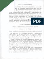 Actos Legislativos Desde 1909