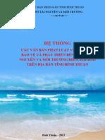 Văn bản pháp luật về quản lý bảo vệ phát triển bền vững tài nguyên môi trường biển hải đảo tỉnh Bình Thuận