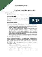 Esp Técnicas Hospital Huayllay