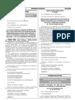 Ley que autoriza al Seguro Integral de Salud (SIS) para efectuar modificaciones presupuestarias a nivel institucional a favor de diversos pliegos del Gobierno Nacional y de los Gobiernos Regionales
