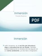 Inmersion fisioterapia