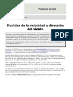 Medidas de La Velocidad y Dirección Del Viento